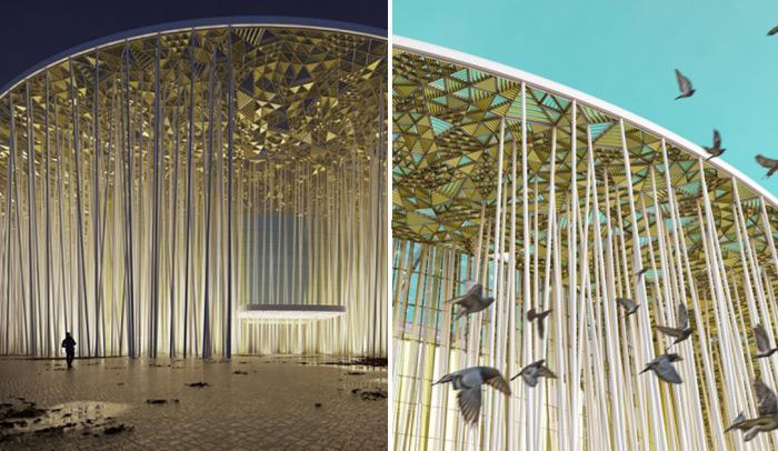 Искусственный бамбуковый лес. Театр в Китае, который стал популярным еще до своего открытия