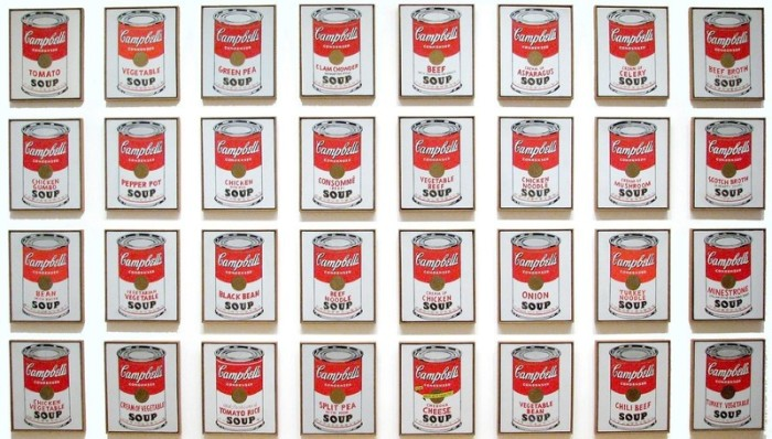 «Банки с супом Кэмпбелл», 1962, Энди Уорхол