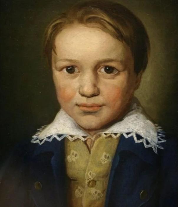 Портрет 13-летнего Бетховена работы неизвестного мастера из Бонна (примерно 1783 год).