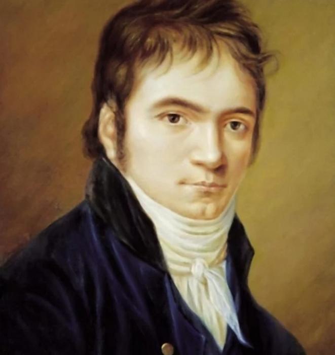 Бетховен в 1803 году, портрет Кристиана Хорнемана.