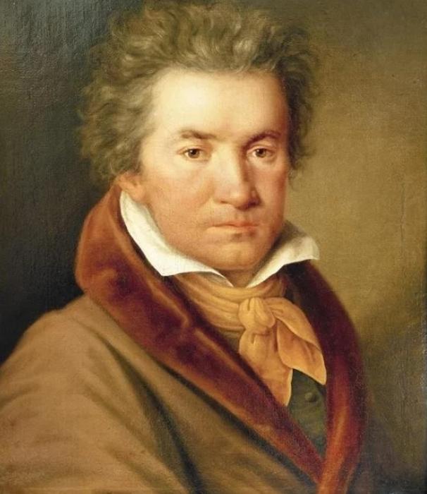 Бетховен в 1815 году, портрет Йозефа Виллиброрда Мелера.