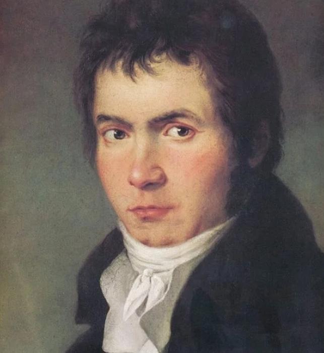 Людвиг ван Бетховен, портрет 1804-05 годов работы Йозефа Виллиброрда Мелера