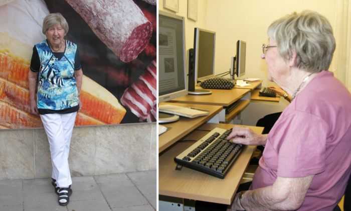 106-летняя Дагни Карлссон, самая великовозрастная и позитивная королева блогосферы.