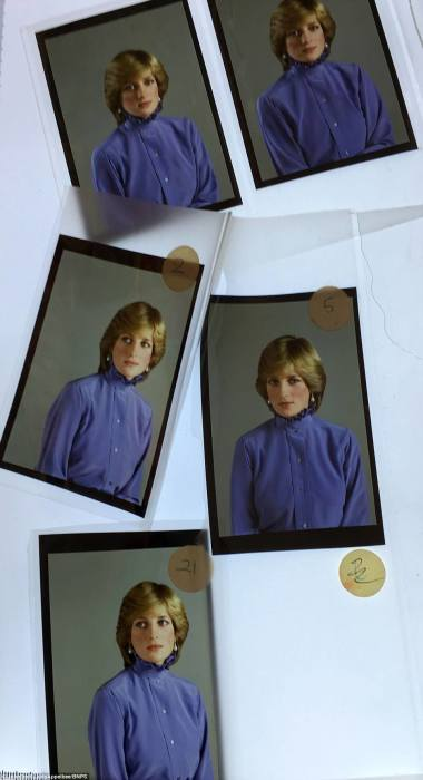 Серия фотографий принцессы Дианы для марок. Ей 21 год, и она год, как замужем за Чарльзом.