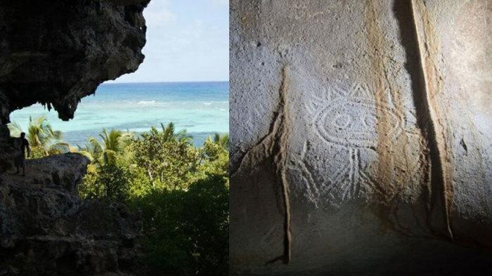 Наскальные рисунки народа Таино в пещерах острова Мона