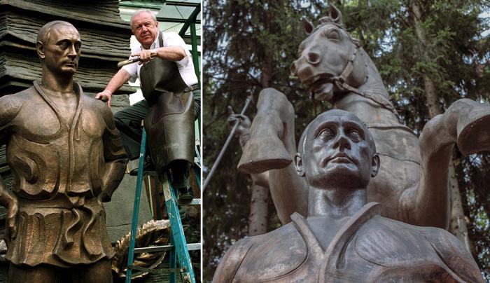 Скульптуры из дома-музея Зураба Церетели в Подмосковье.