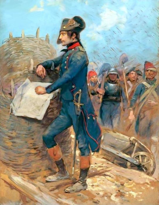 Наполеон Бонапарт во время осады Тулона.