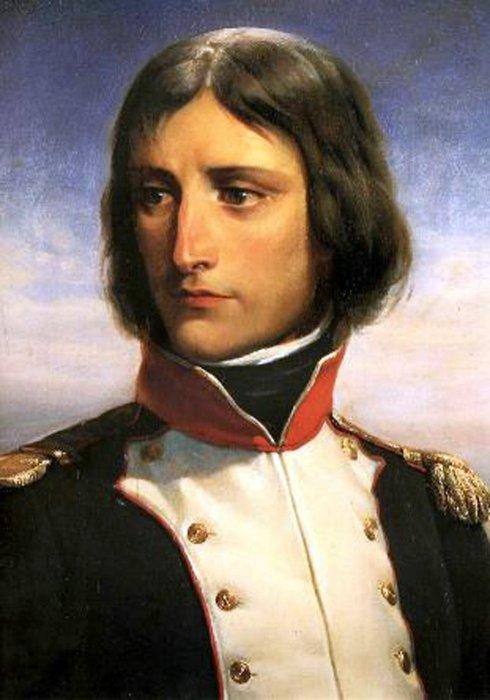 23-летний Наполеон Бонапарт, подполковник батальона корсиканских республиканских добровольцев. Портрет Анри Феликса Эммануэля Филиппото