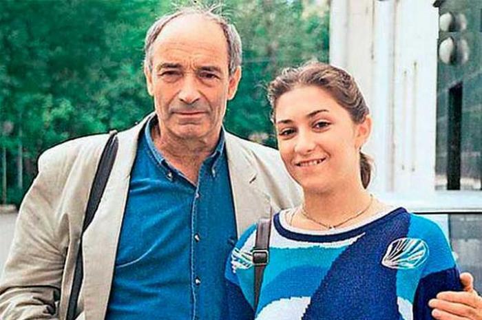 Валетнин Гафт с дочерью Ольгой.