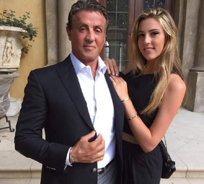 Сильвестр Сталлоне <br> и его дочь София.