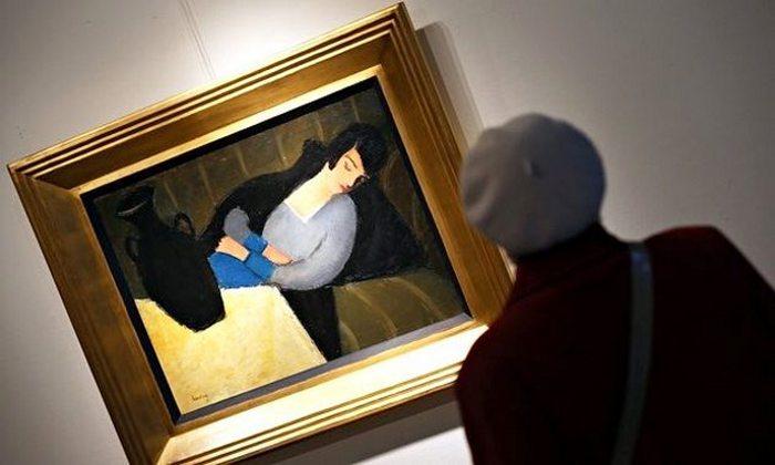 Пропавшая картина Роберта Берени «Спящая женщина с черной вазой».