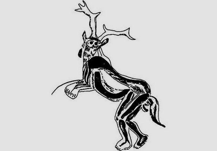 То ли человек, то ли олень.