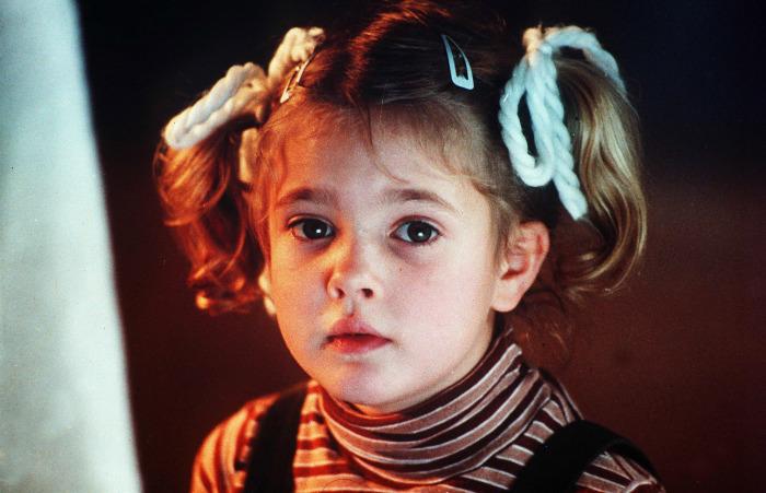 Дрю Бэрримор в детстве.