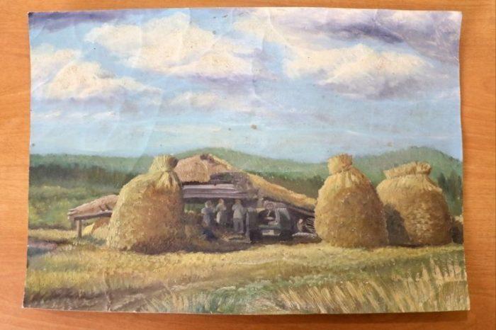 Пейзаж, написанный Евсеем Якимовым.
