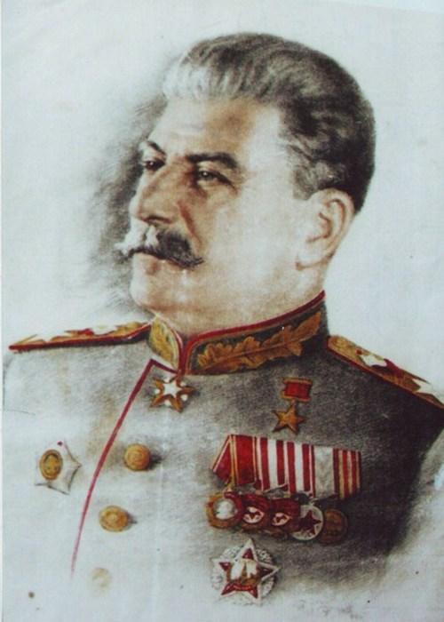 Портрет Сталина. Художник Евсей Якимов.