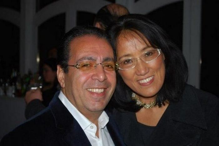 Эли Сахай с супругой.