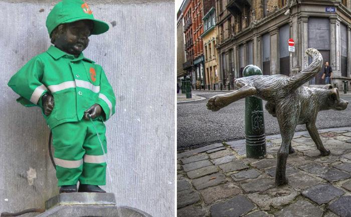 Писающие статуи Брюсселя.