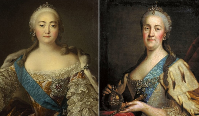 Елизавета I и Екатерина II.