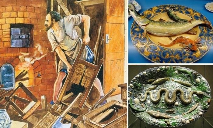 Тарелки с жуками и змеями, или уникальная керамика мастера, который закончил жизнь в Бастилии
