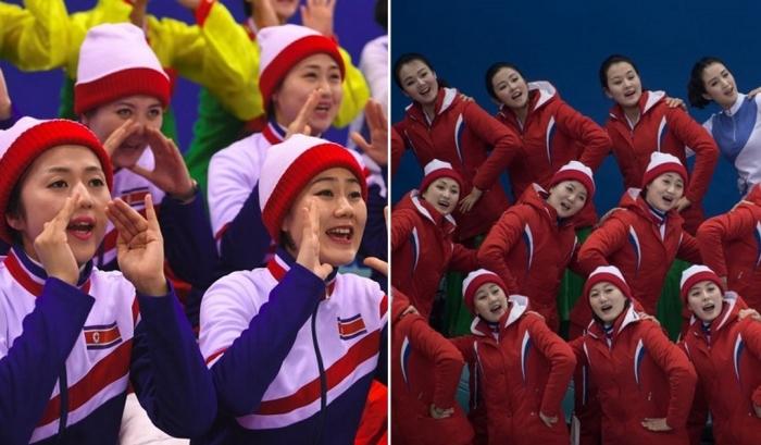 Как девушки из Северной Кореи поддерживают спортсменов на Олимпиаде-2018