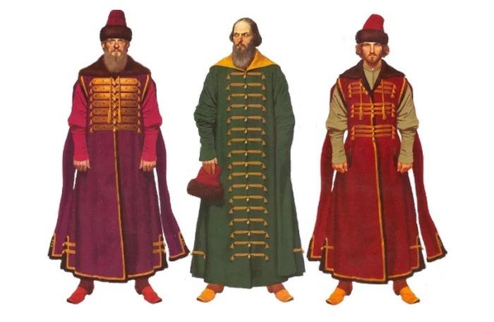 Мужской костюм Московской Руси XIII века.