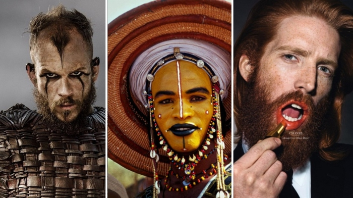 Викинги крашены: Всемирная история мужского макияжа.