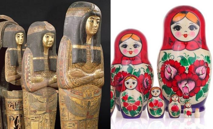 Зачем мумии восемь саркофагов: От древнеегипетских канопов до русской матрешки
