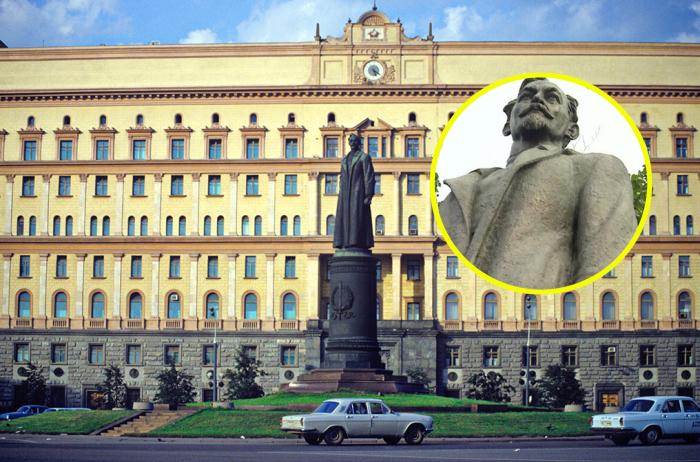 Памятник Феликсу Дзержинскому на Лубянке.