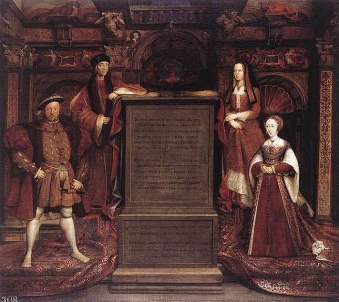 Генрих VII, Елизавета Йоркская, Генрих VIII и Джейн Сеймур.