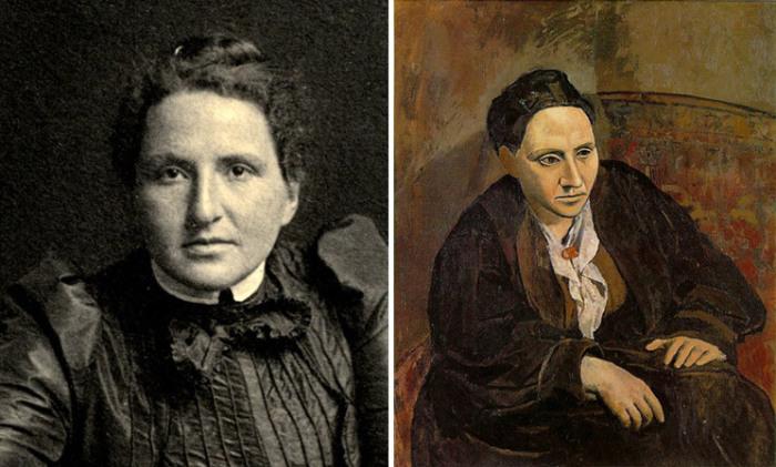 Гертруда Стайн и её портрет кисти Пикассо.