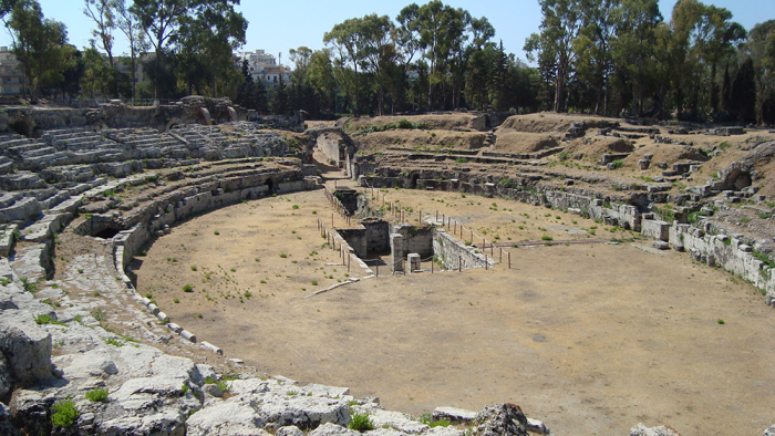 Одна из древних арен для гладиаторских боёв.