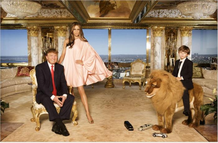 До Белого дома. Интерьеры личного дома Трампа.