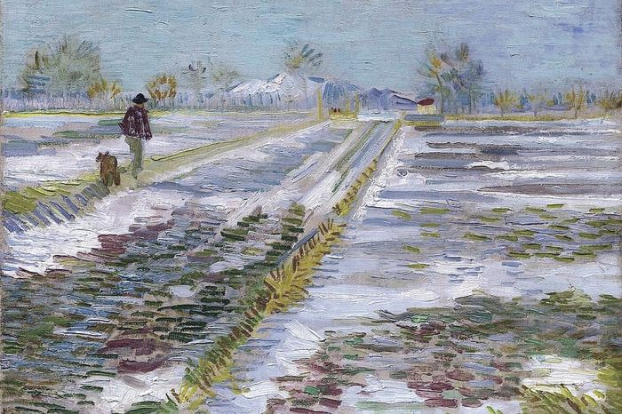 «Пейзаж со снегом». Ван Гог. 1888 год.