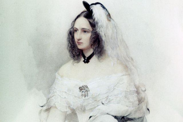 Н.Н. Пушкина-Ланская, в девичестве Гончарова. Начало 1860-х