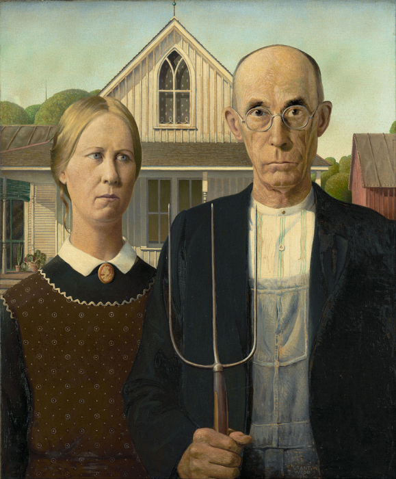 «Американская готика», Грант Вуд