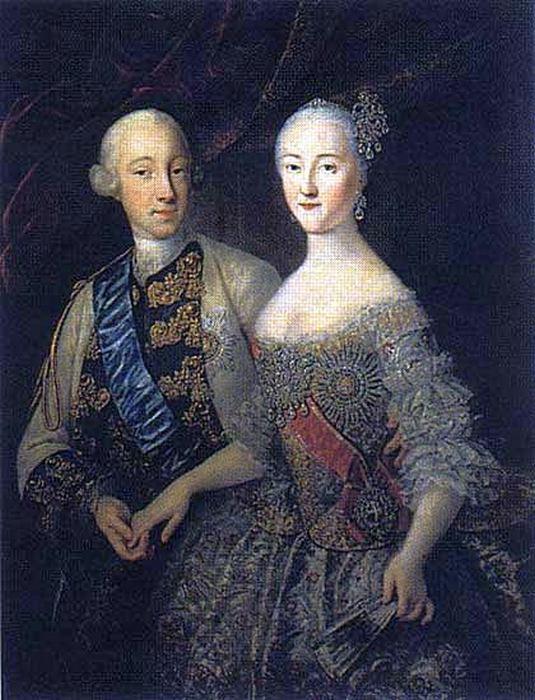 Екатерина Великая и Петр III.