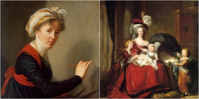 Луиза Элизабет Виже-Лебрен - личный портретист Марии Антуанетты.