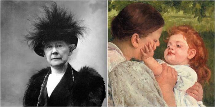 Мэри Кэссетт - художница, которая рисовала женщин и детей.