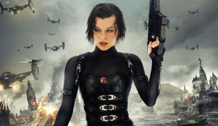 Милла Йовович - агент безопасности.
