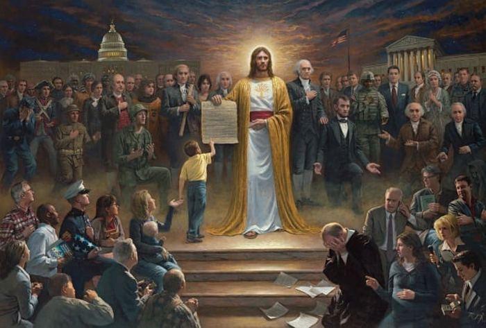 Иисус с Конституцией.