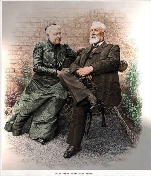 Жюль Верн и мадам Верн, примерно 1900 год