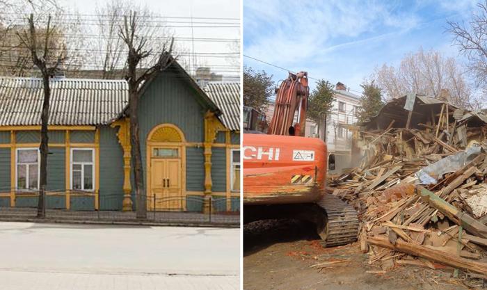 В Калуге уничтожили памятник деревянной архитектуры, который недавно был отреставрирован.