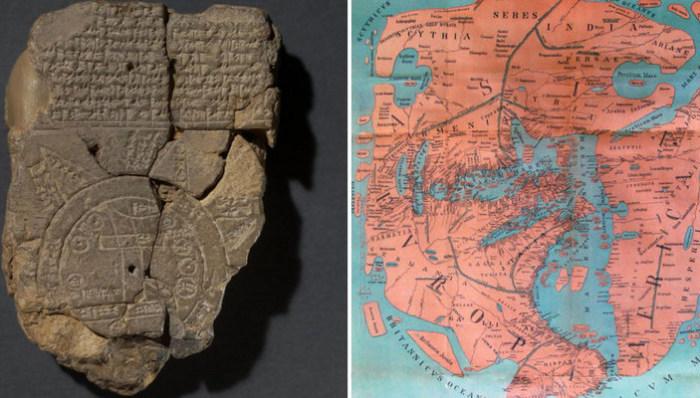 Старинные географические карты самых странных форм.