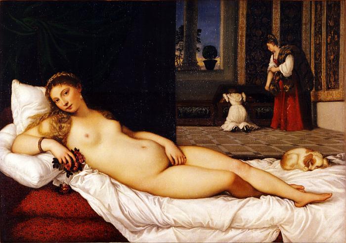 Венера Урбинская. Тициан.
