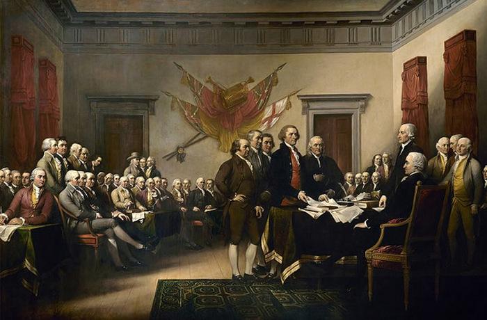 Декларация независимости. Джон Трамбул.