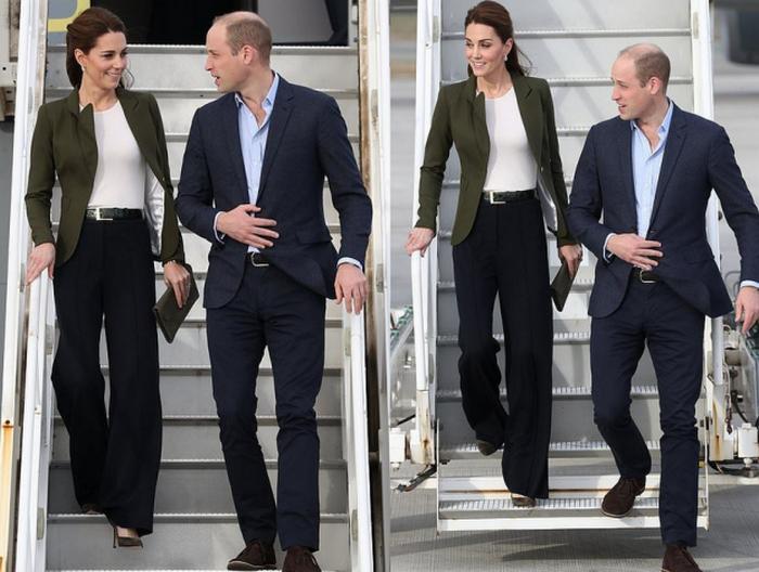 А Кейт позволяет себе брюки.
