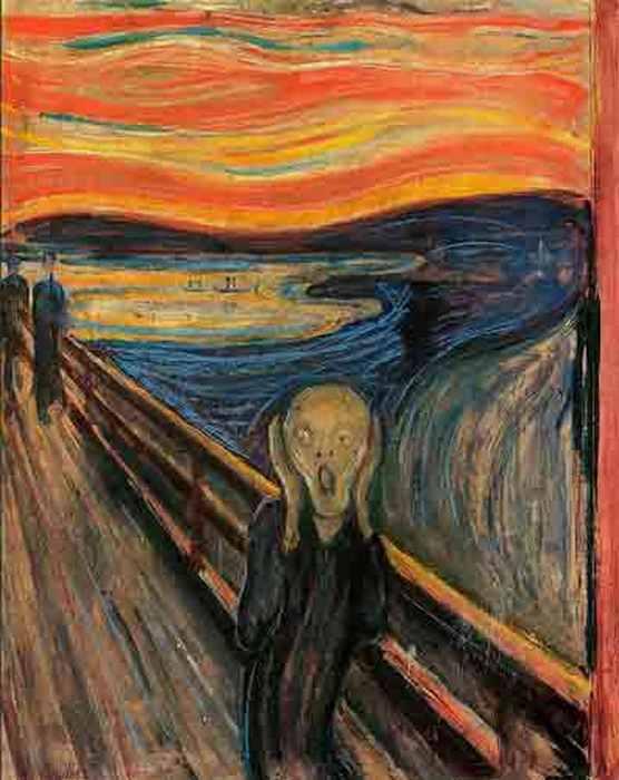 Украденная версия картины «Крик» Эдварда Мунка.