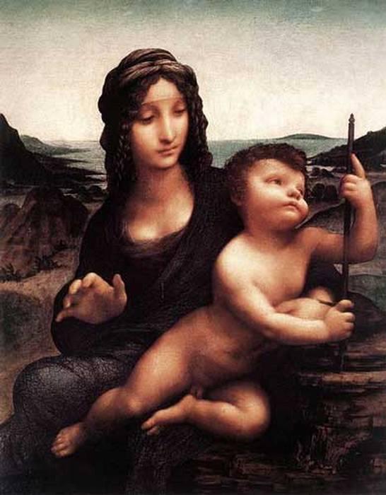 «Мадонну с веретеном» Леонардо да Винчи.
