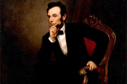Президент Авраам Линкольн.