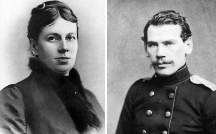 Софья и Лев Толстые.